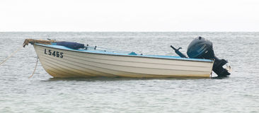 Fibreglass dinghy boat Stock Image