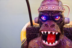 Fibreglass monster in game arcade Royalty Free Stock Photos