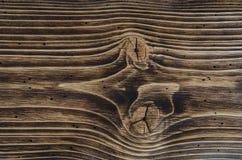 Fibrerna som åldras i mörkt trä Royaltyfri Bild