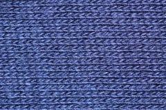 Fibres bleues de coton images libres de droits