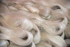 Fibres en soie en gros plan photo libre de droits