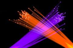 Fibres optiques Photos libres de droits