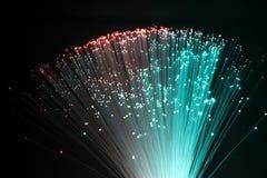 Fibres optiques en plastique Photos libres de droits