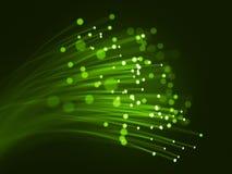 Fibres optiques vertes illustration libre de droits