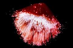 Fibroóptico en rojo Fotos de archivo