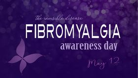 Fibromyalgia awareness day. In May. The invisible disease Stock Image