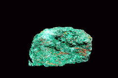 Fibrous Malachite. Mineral composed of copper carbonate, formerly used as a colorant.Currently it used in work as semi-precious stone jewelry Stock Images