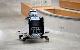 FIBT Viessmann Bobsleigh @ Skeleton World Cu Stock Image
