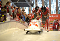 FIBT Viessmann Bobsleigh @ Skeleton World Cup Stock Photography