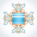 Fibula blu ed arancio. Fotografia Stock
