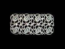 Fibula d'argento openwork d'annata Immagini Stock Libere da Diritti
