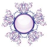 Fibula viola e blu Fotografie Stock Libere da Diritti