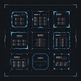 Ficção científica HUD Ui Square Frames foto de stock