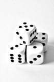 Fice dices high contrast. Five dices in pyramid high contrast royalty free stock photography