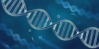 Ficelle d'ADN dans le microscope électronique Photo stock