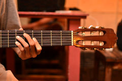 Ficelle de guitare Photos stock