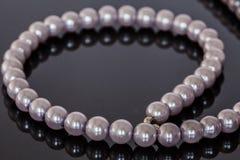 Ficelle des perles Photographie stock libre de droits