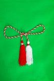 Ficelle rouge et blanche de ressort Image libre de droits