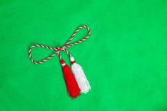 Ficelle rouge et blanche de ressort Images stock