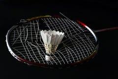 Ficelles cassées de badminton Photos stock