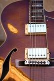 Ficelles de guitare électrique de corps Photos libres de droits