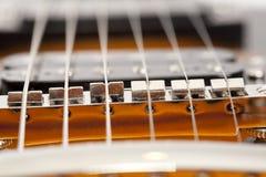 Ficelles de guitare photographie stock