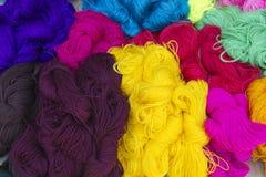 Ficelles des laines Photographie stock libre de droits