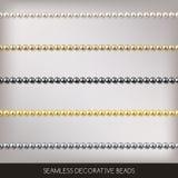 Ficelles sans couture d'ensemble de perles, éléments de décoration, illustration de vecteur illustration libre de droits
