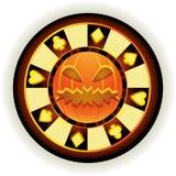 Ficha de póker de Halloween stock de ilustración