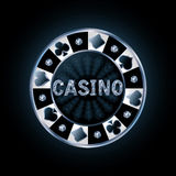 Ficha de póker del casino del diamante Fotos de archivo