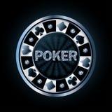 Ficha de póker del diamante Imagen de archivo