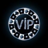 Ficha de póker del VIP del diamante Fotografía de archivo