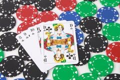 Fichas de póker imágenes de archivo libres de regalías