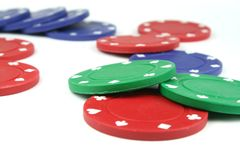 Fichas de póker imagen de archivo libre de regalías
