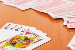 Fichas de póker y naipes genéricos Imágenes de archivo libres de regalías