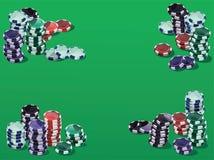 Fichas no verde Foto de Stock