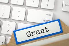 Fiche avec l'inscription Grant 3d Image stock