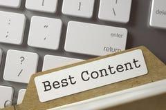 Fiche avec le meilleur contenu d'inscription 3d Image stock