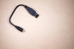 Fiche d'USB photographie stock