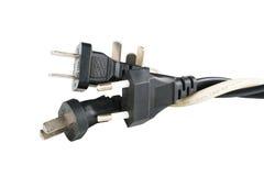 Fiche de cable électrique Photographie stock