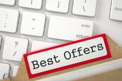 Fiche de sorte avec des offres de meilleur d'inscription 3d Images stock