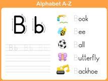 Fiche de travail de découverte d'alphabet illustration libre de droits