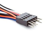 Fiche et câble Photographie stock