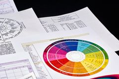 Fiche technique d'horoscope photographie stock