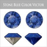 Fichero azul de Sapphire Vector Imagen de archivo libre de regalías