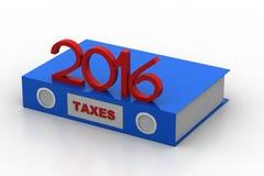 Fichero de impuesto 2016 Imagen de archivo libre de regalías