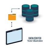 Fichero de la carpeta del almacenamiento del centro de datos stock de ilustración