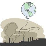 Fichero de la contaminación + del vector Imagen de archivo