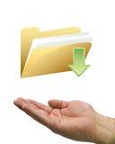 Fichero de la mano y de la transferencia directa Fotografía de archivo libre de regalías