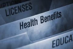 Fichero de las subsidios por enfermedad Fotos de archivo